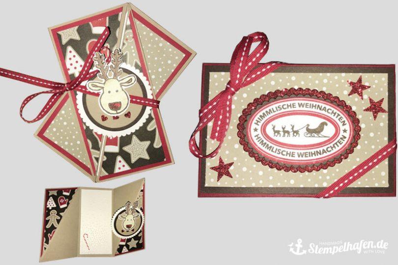 Weihnachtskarte und Verpackung - Basteln mit Stampin' Up! Bastelbedarf