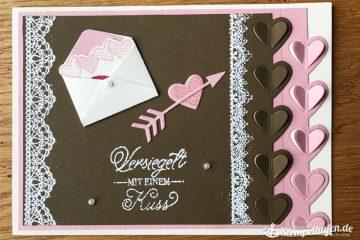 Valentinskarte - DIY - Kreatives Hobby Bastelbedarf von Stampin' Up! - Basteln mit Papier im Stempelhafen aus Hamburg