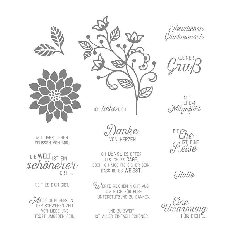 Lieblingsstempelset Blühende Worte