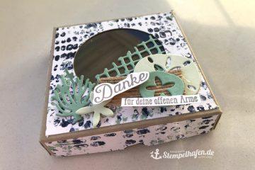 Traum vom Meer maritime Verpackung Gastgeschenk - Goodie - DIY Bastelbedarf von Stampin' Up! - Basteln im Stempelhafen aus Hamburg