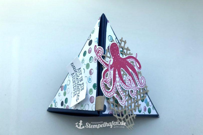 Traum vom Meer Wickelbox Verpackung - DIY Bastelbedarf von Stampin' Up! - Basteln im Stempelhafen aus Hamburg