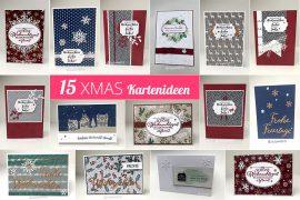 15 DIY Last Minute Weihnachtskarten basteln mit Stampin' Up! Bastelbedarf - Stempelhafen in Hamburg