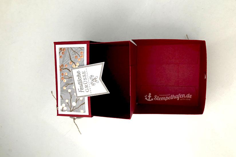 Quadratische Klapp Verpackung - Stampin' Up! Bastelbedarf in Hamburg