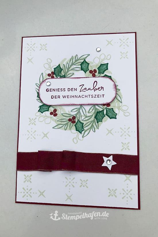 DIY Karte Basteln Zauber der Weihnachtszeit - Simplestaming