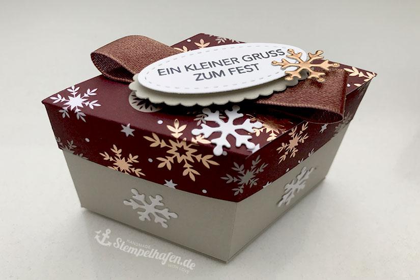 Raute Schachtel, Salmi Verpackung, Box für Weihnachten, Geschenke verpacken