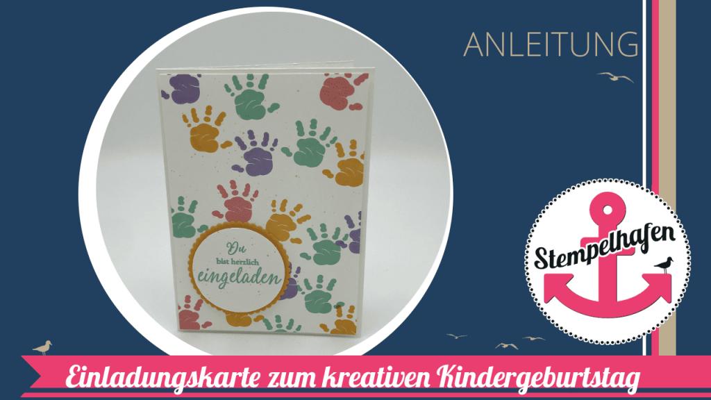 Bastelidee Karte Stempeln für Kindergeburtstag